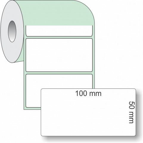 Etiqueta Adesiva Couchê, 100 x 50 mm x 1 coluna, para Impressoras Térmicas