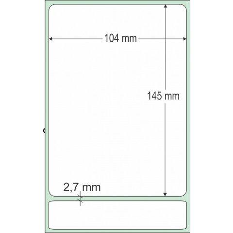 Etiqueta Adesiva Couchê, 104 x 145 mm x 1 coluna, SIGEP WEB CORREIOS, para Impressoras Térmicas