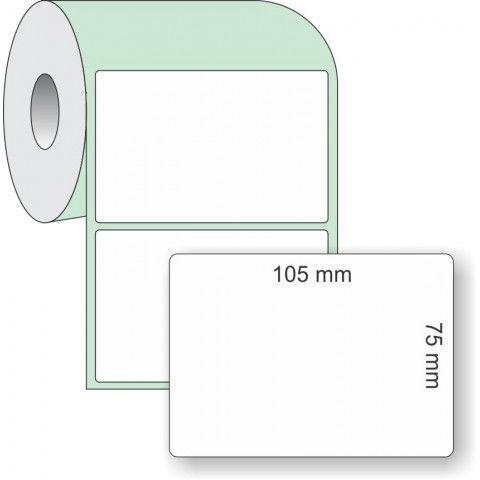 Etiqueta Adesiva Couchê, 105 x 75 mm x 1 coluna, para Impressoras Térmicas
