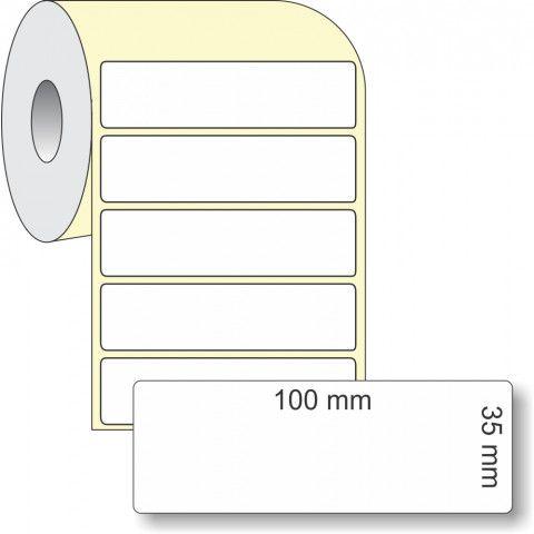Etiqueta Adesiva Térmica, 100 x 35 mm x 1 coluna, para Impressoras Térmicas