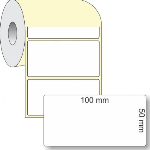 Etiqueta Adesiva Térmica, 100 x 50 mm x 1 coluna, para Impressoras Térmicas