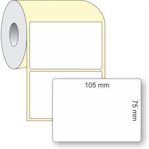 Etiqueta Adesiva Térmica, 105 x 75 mm x 1 coluna, para Impressoras Térmicas