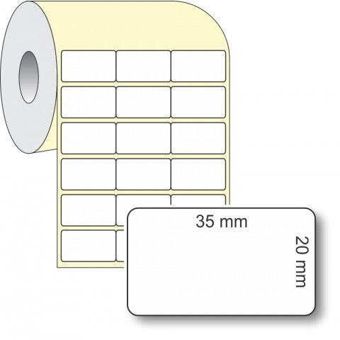 Etiqueta Adesiva Térmica, 35 x 20 mm x 3 colunas, para Impressoras Térmicas