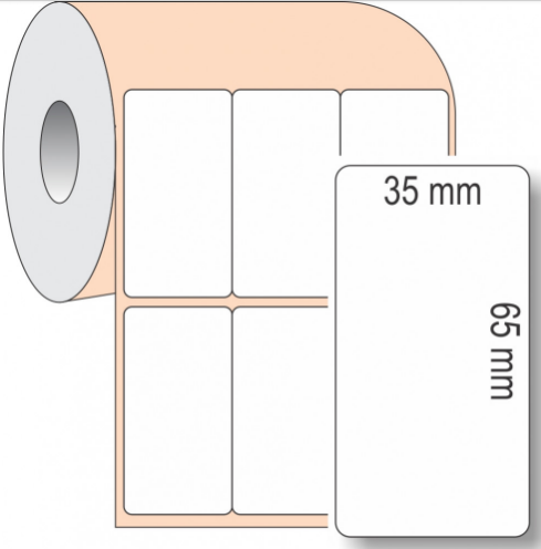 Etiqueta Adesiva boop, 35 x 65 mm x 3 colunas, para Impressoras Térmicas