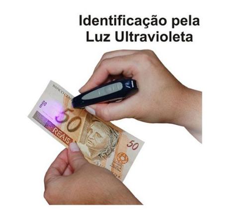 Identificador de Notas Falsas e Cartões de Crédito Falsos IC2402 FRT - Kit com 10 UNI