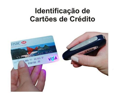 Identificador de Notas Falsas e Cartões de Crédito Falsos IC2402 FRT - Kit com 5 UNI