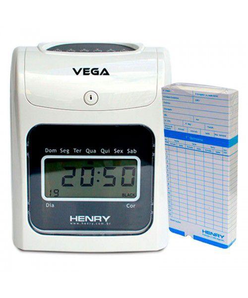 Relógio De Ponto Cartográfico Henry Vega + 50 Cartões