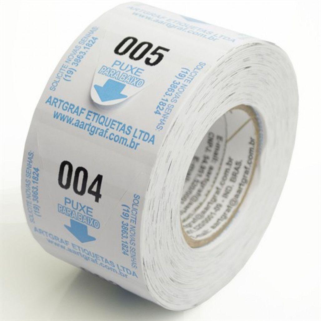 Senhas Numeradas, 3 dígitos, papel 70 g