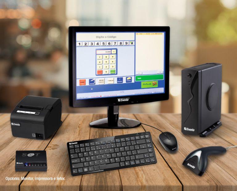 Solução Mobox® NFC-e/S@T SÃO PAULO ( CPU Sweda SP-30 - Impressora Não Fiscal - Teclado - Mouse Sweda - S@T SS 1000) - Sweda