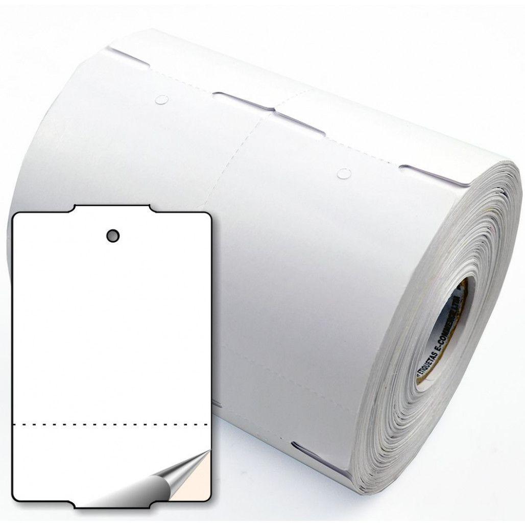 Tag de Papel Couchê Adesivo 75 x 50 mm para Impressoras Térmicas