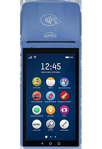 Terminal Smart Gertec G800 Android com Impressora - 4G e Wi-Fi