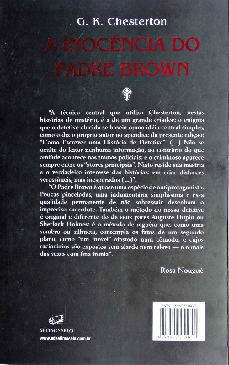 A Inocência do Padre Brown - G. K. Chesterton  - Livraria Santa Cruz