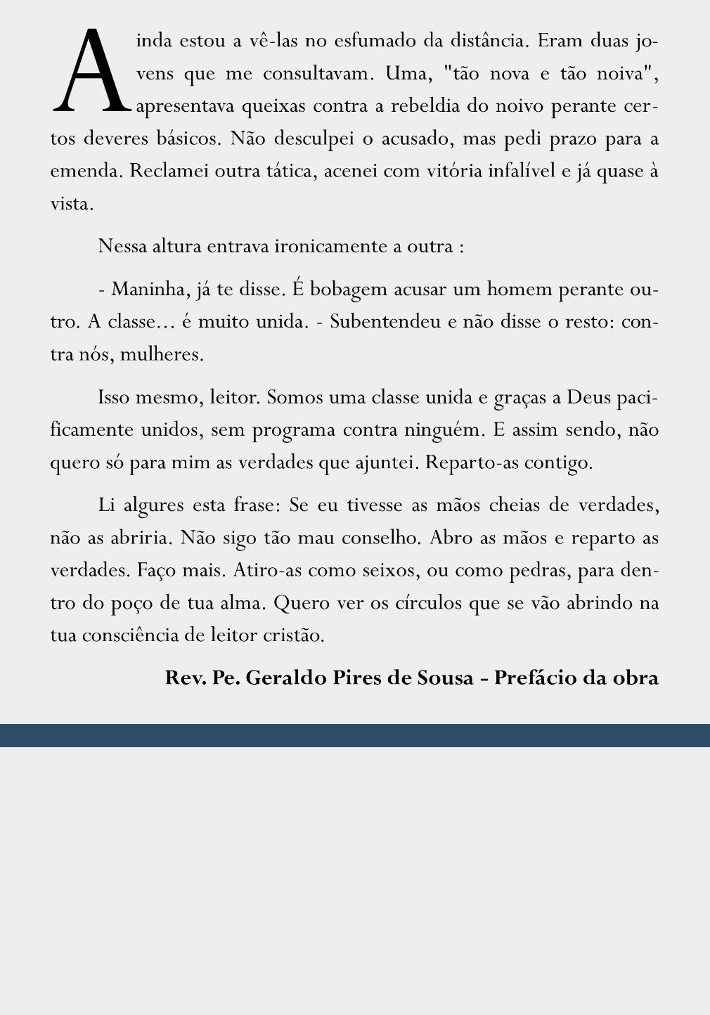 Muito entre nós... - Rev. Pe. Geraldo Pires de Sousa