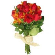 Buquê de Rosas Flamejante