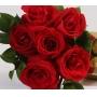 Buquê de 6 Rosas Vermelhas e Bombons Ferrero Rocher