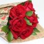 Buquê Declaração com 6 Rosas vermelhas