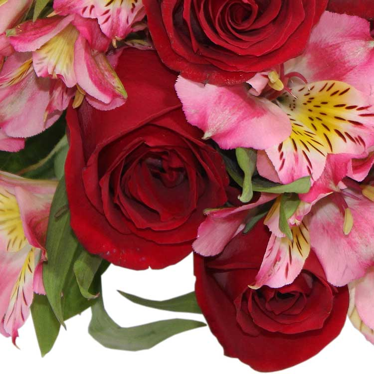 Buquê Rosas e Astromélias