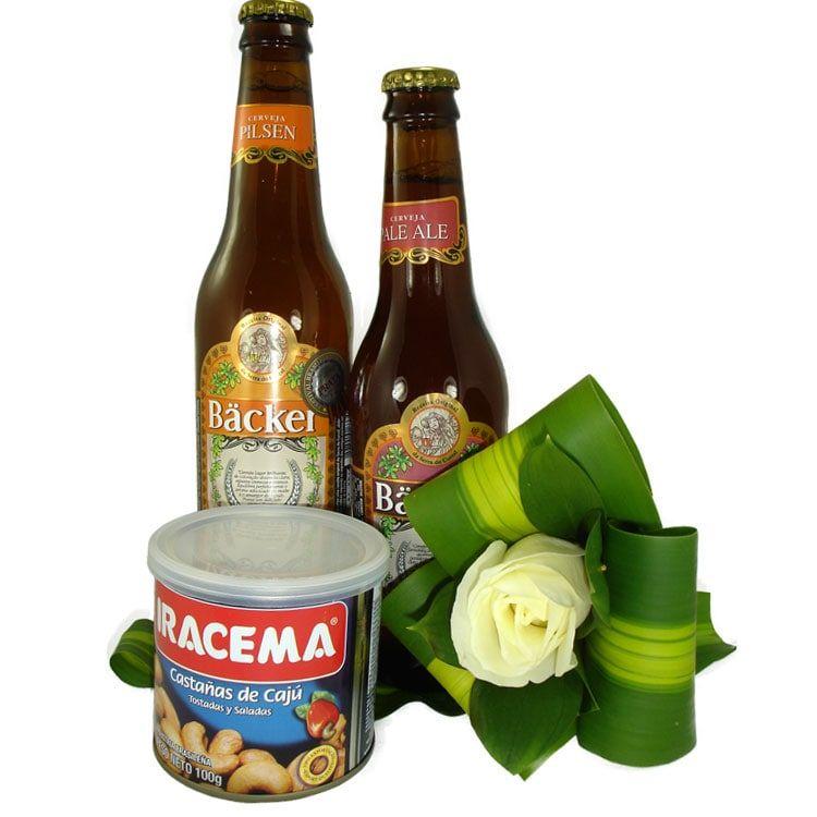 Cervejas Backer e Rosas Brancas