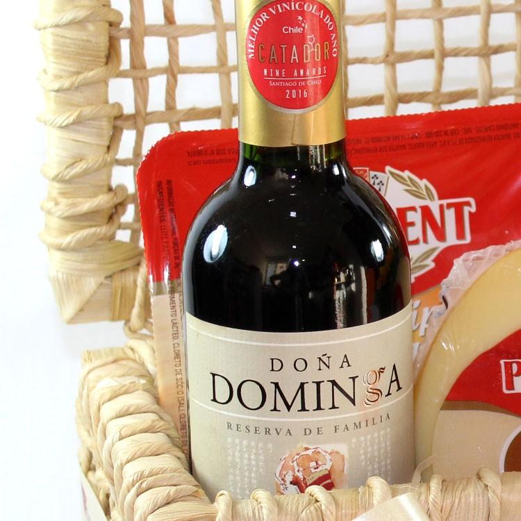 Cesta Presidente - Queijos, vinhos, chocolates e girassol