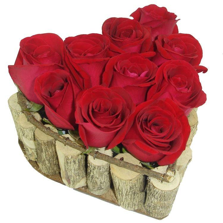Coração de Rosas Vermelhas