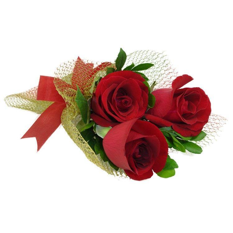 Mini Buquê Rosas Douradas