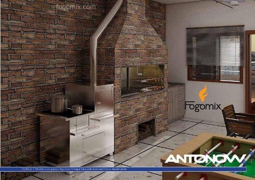 FOGÃO A LENHA COMPACTO E - ANTONOW