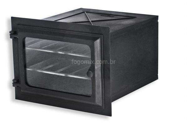 FORNO P/ FOGAO A LENHA FERRO FUNDIDO E PORTAS C/ VIDRO LIB-99833