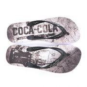 E> SANDALIA MASC CC2432 BRANCO/PRETO SCRATCH COCA-COLA 19553