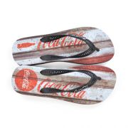 E> CHINELO MASC CC2505 PRETO COKE RETRO WOOD COCA-COLA 19561