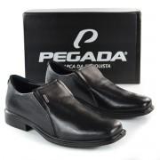 SAPATO MASC 124772-01 PRETO COURO PEGADA 92661