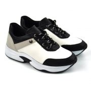 E> TENIS FEM 68-39913 DAD SNEAKERS PRETO QUIZ 18574