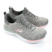 TÊNIS ESPORTIVO FEMININO SKECHERS DYNAMIGHT BREAK THROUGH GRAY/LIGHT PINK 12991/GYLP-20176