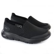 TÊNIS MASC SLIP ON GO WALK 5 APPRIZE PRETO SKECHERS 92647
