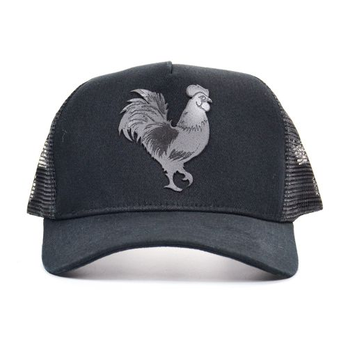 BONÉ B0128 TRUCKER ROOSTER PLASTISOL GEL PRE MADE IN MATO OK