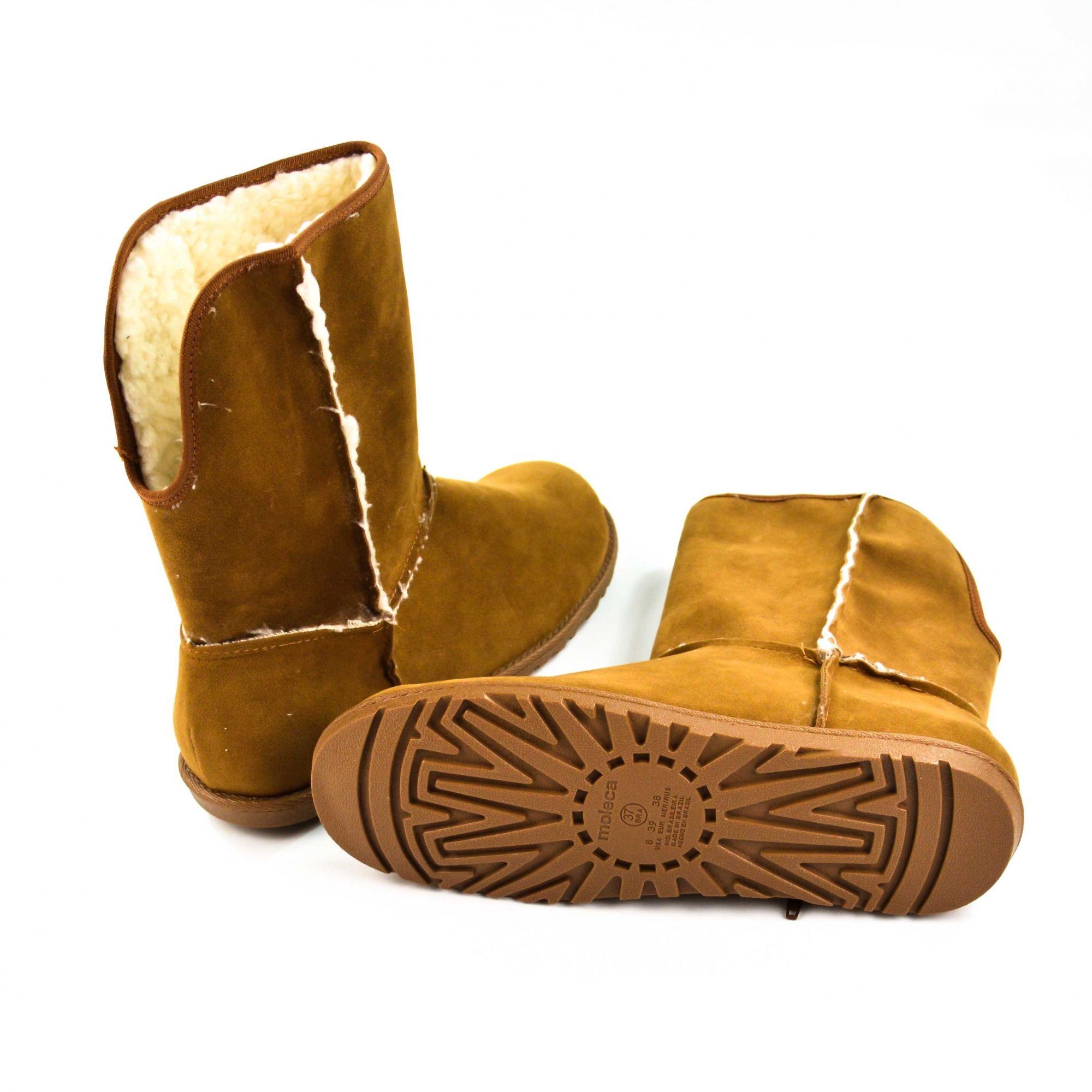 Bota 39 Pelinhos Caramelo Moleca 5317.205 - 013451
