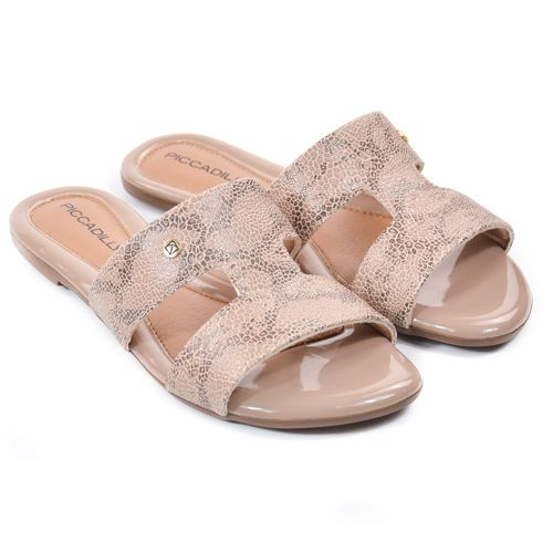 CHINELO FEM 422010 BEGE/AREIA/NUDE CROCO PICCADILLY 89500