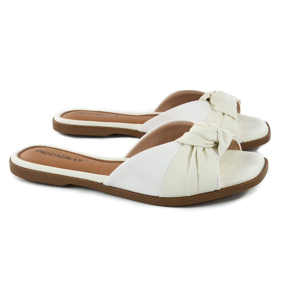 CHINELO FEM 508020 BRANCO OFF FLAT PICCADILLY 93092