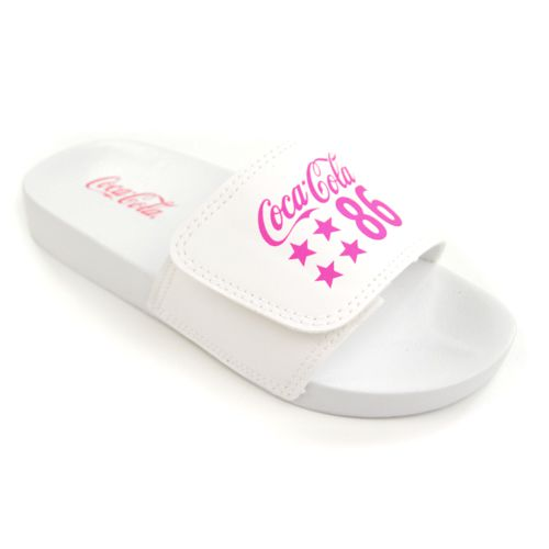 CHINELO SLIDE CC2603 BRANCO 86 STAR COCA-COLA 19486