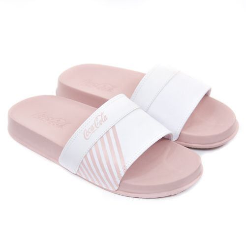 CHINELO SLIDE FEM CC2727 ROSE BRANCO ATLANTA COCA COLA 89683