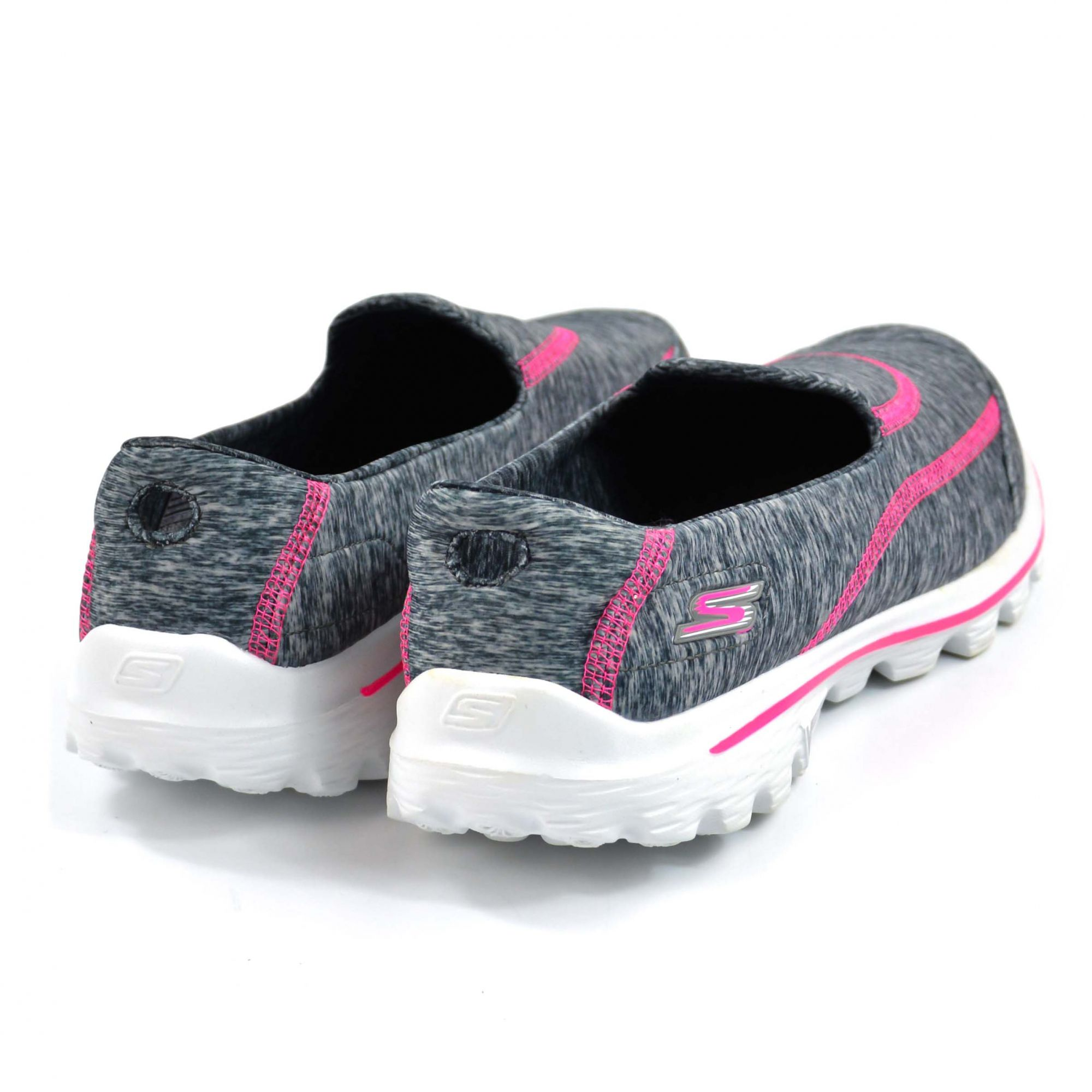 E> TENIS SLIP ON CINZA GYHP GO WALK 2 13942 SKECHERS 11110