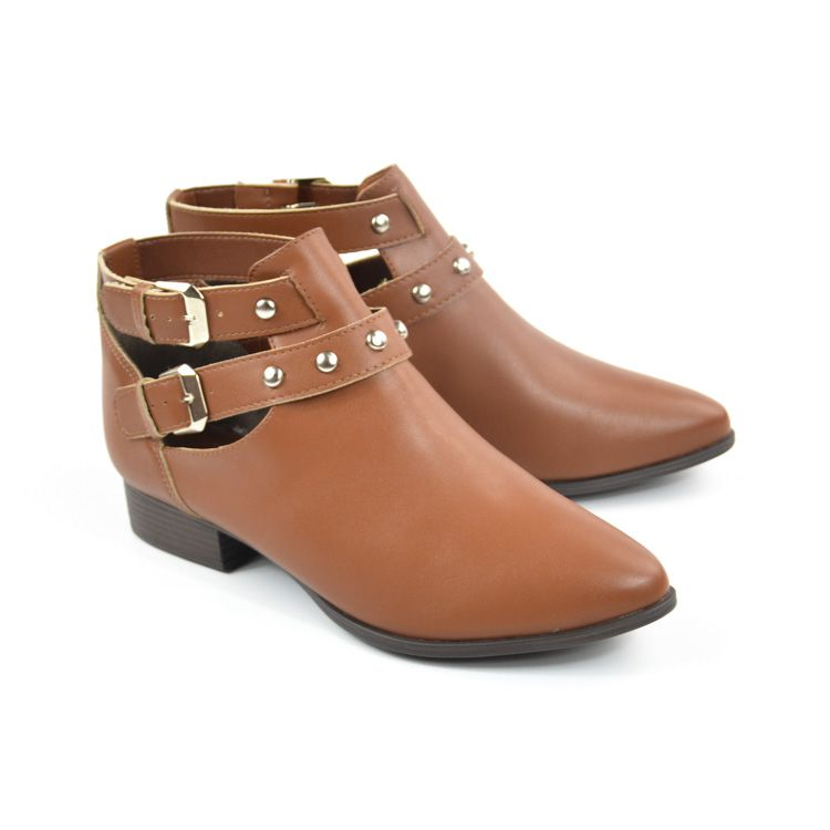CUT OUT BOOT FEM 217021SBAVV CARAMELO SELLA VIA UNO 21430