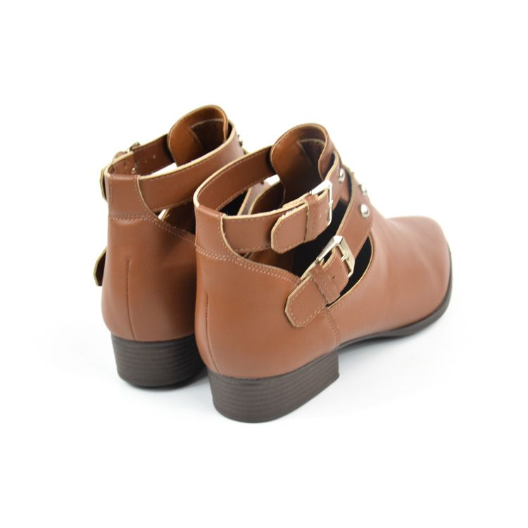 E> CUT OUT BOOT FEM 217021SBAVV CARAMELO SELLA VIA UNO 21430