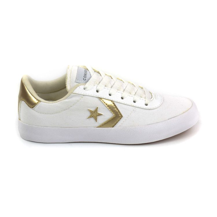 E> TENIS CO02460001 POINT STAR BRANCO/OURO ALL STAR 20837