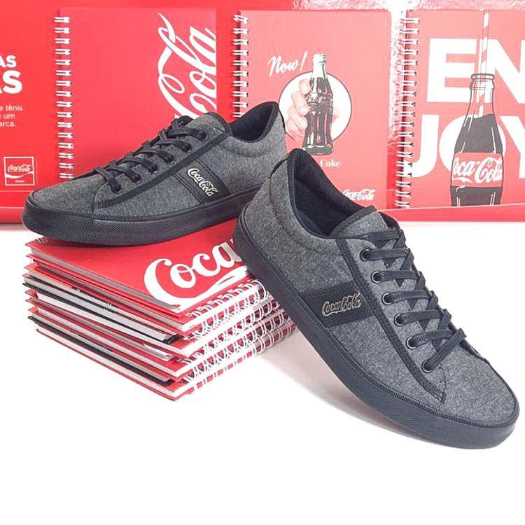 E> TENIS MASC MOSCOW ALL BLACK CC1500_24 COCA-COLA 20847