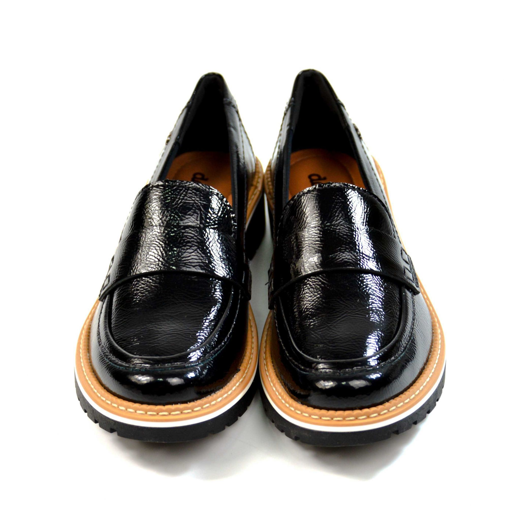 E> MOCASSIM B8462 PRETO FOLLOW DAKOTA 15802