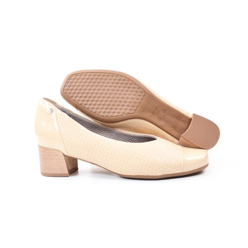 SAPATO FEM 320308 BEGE CREME PICCADILLY 89372