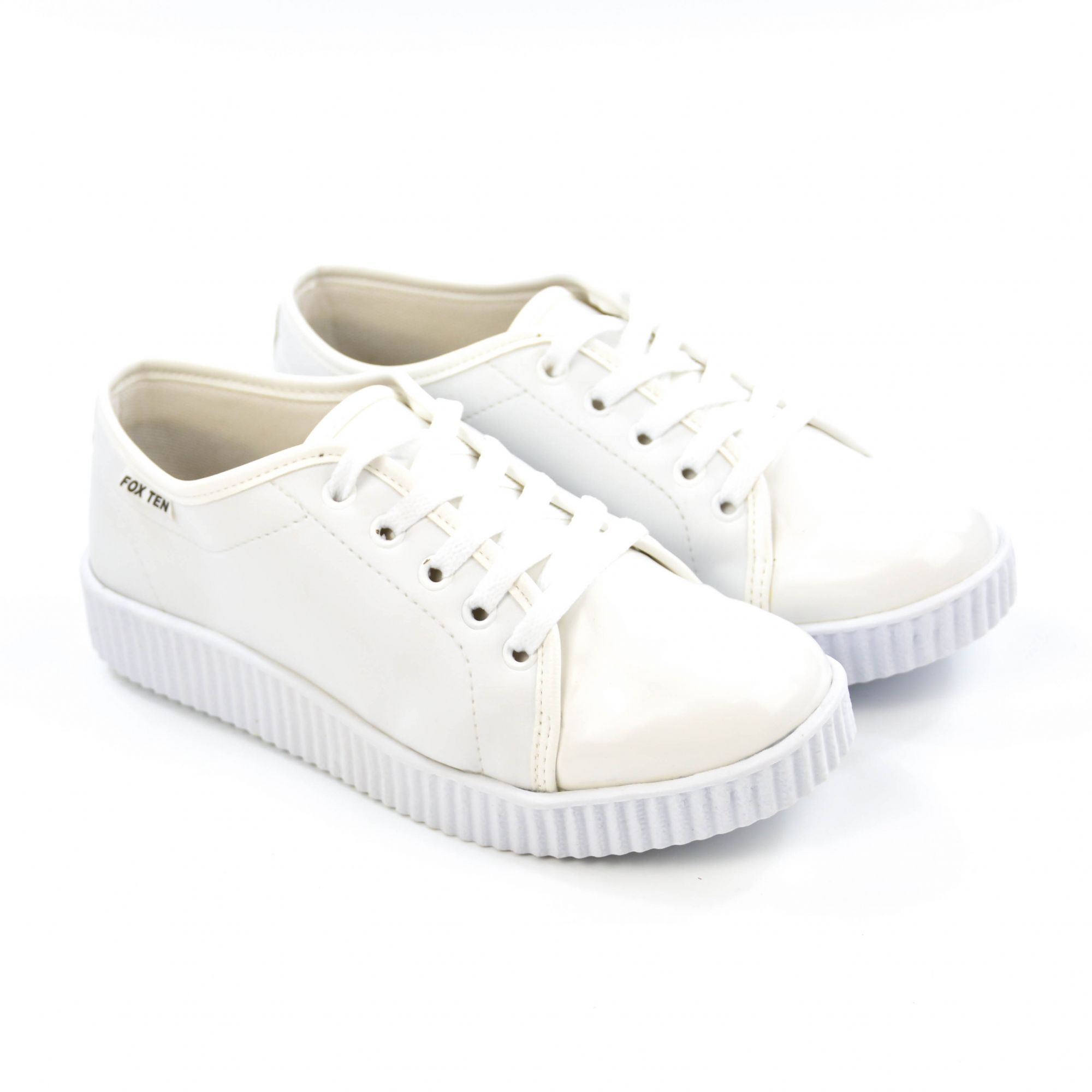 E> TENIS CASUAL FEM 4003 BRANCO FOX TEN 17142