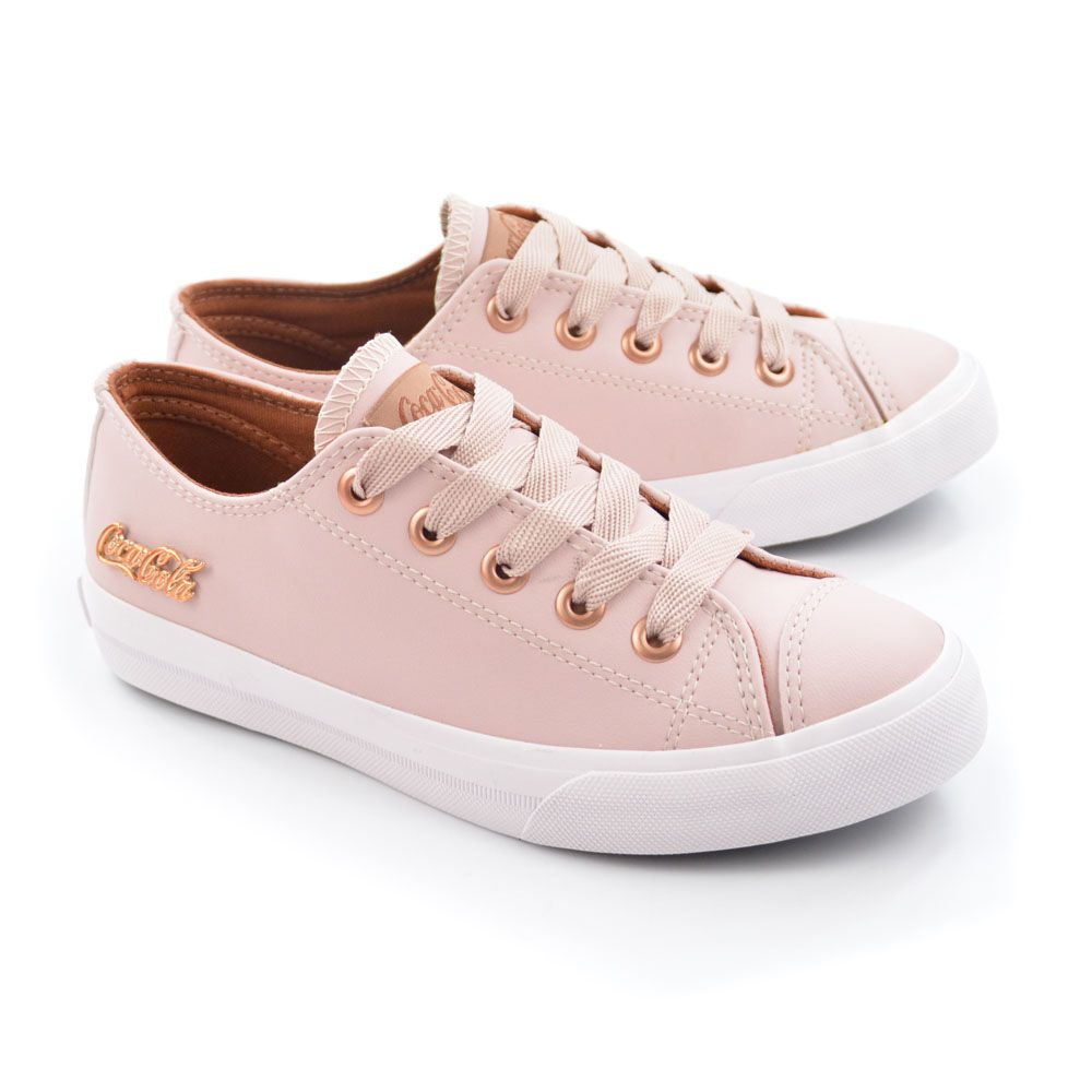 TENIS FEM CC0887 BASKET FLOATER LOW ROSA COCA-COLA 18970