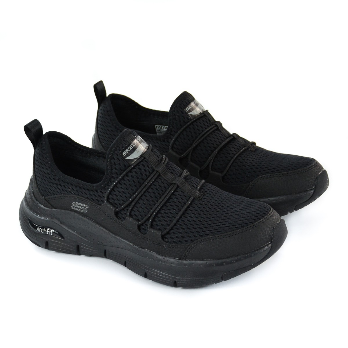 TÊNIS FEM ARCH FIT LUCKY THOUGHTS PRETO SKECHERS 92776