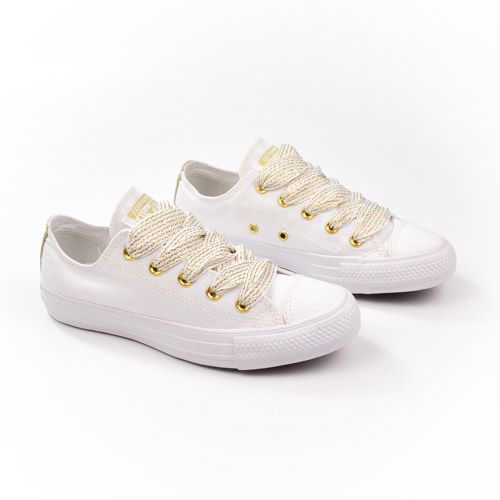a2f20dec8f4 E  TENIS CT08980002 BCO OURO BCO CONVERSE ALL STAR 20334 - Morga Modas